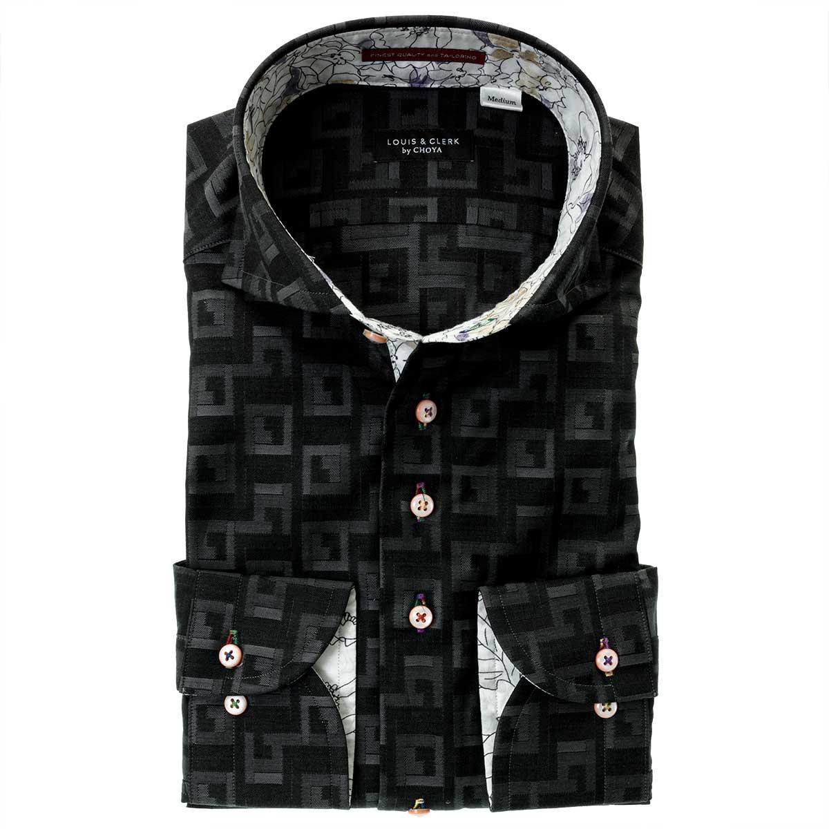 幾何柄シリーズワイシャツ